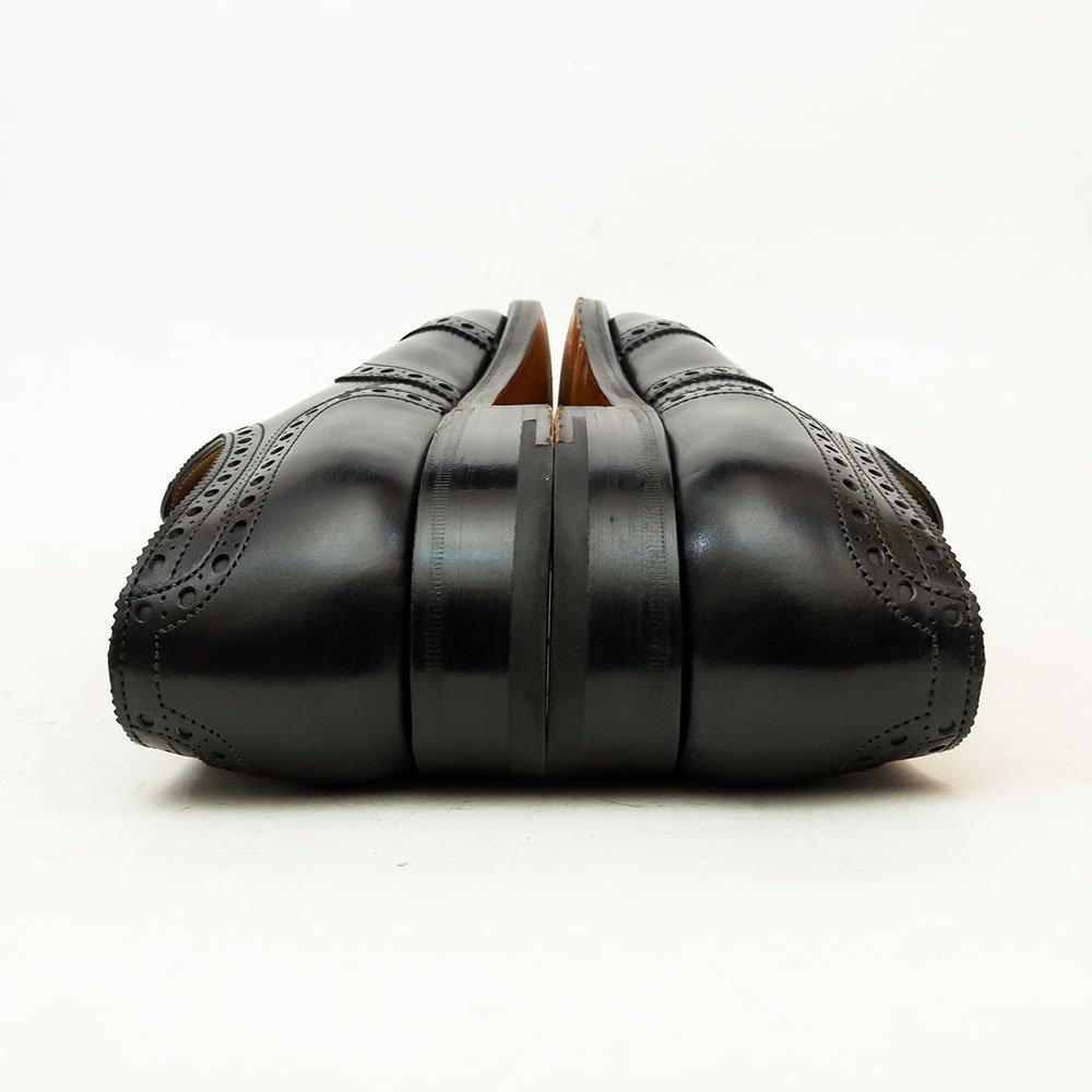 ジョンロブ STOWEY(ストーウェイ)内羽根フルブローグ カーフ ブラック サイズ6E