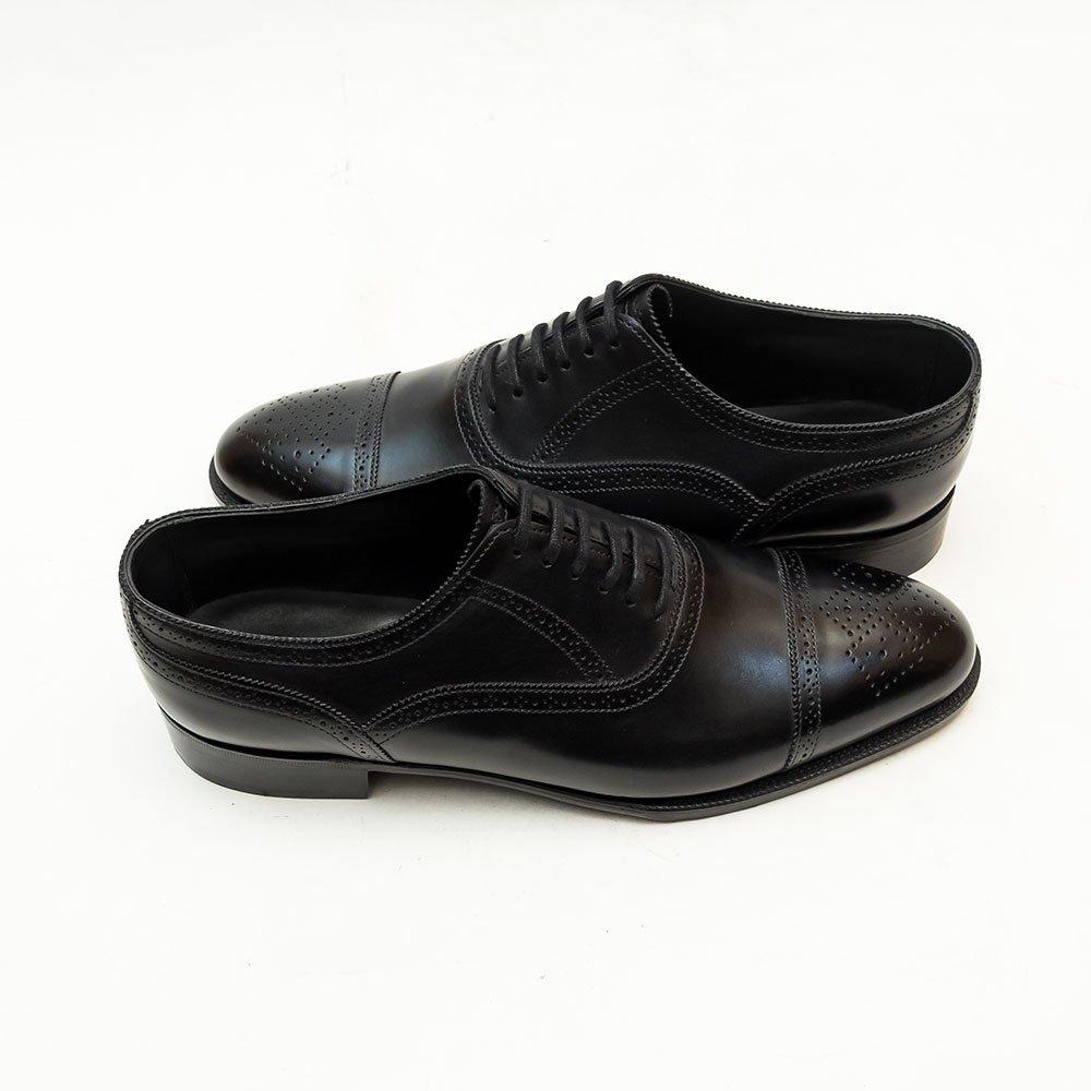 ジョンロブ STOCKLEY(ストックリー)セミブローグ ブラック プレステージライン サイズ6E