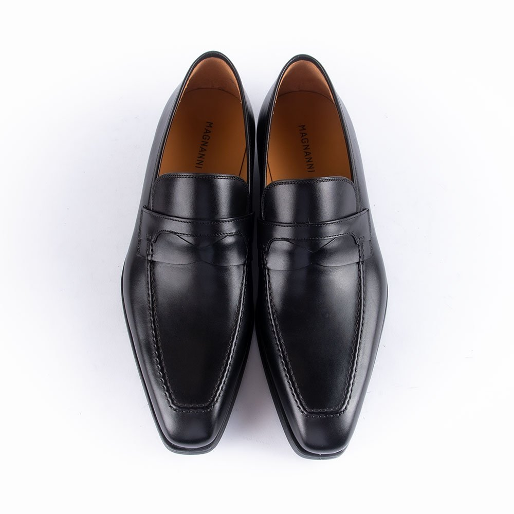 マグナーニ 15376 ペニーローファー ブラック サイズ39
