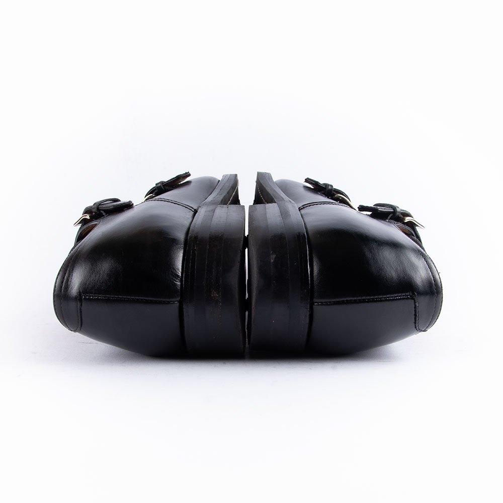 エンツォボナフェ EB-02 ダブルモンク ブラック サイズ7