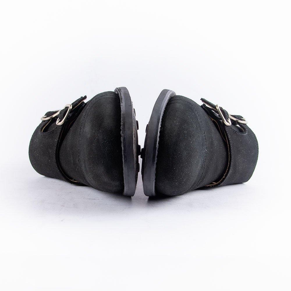 バーウィック 2902 ダブルモンク ブラックスエード サイズ5.5