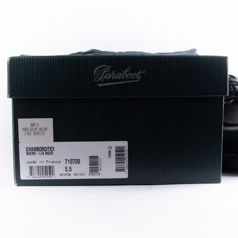 パラブーツ CHAMBORD(シャンボード) Uチップ ブラック リスレザー サイズ5.5
