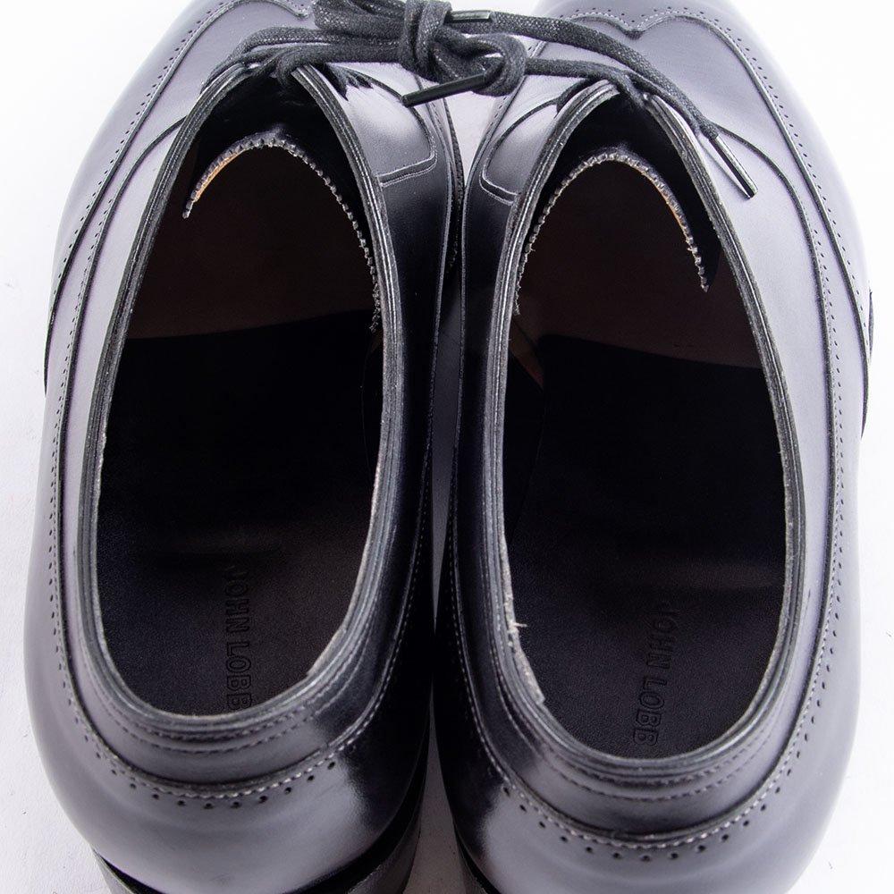 ジョンロブ STRAND(ストランド)内羽根ブラインドフルブローグ ブラック ミュージアムカーフ 2020イヤーモデル サイズ8.5E