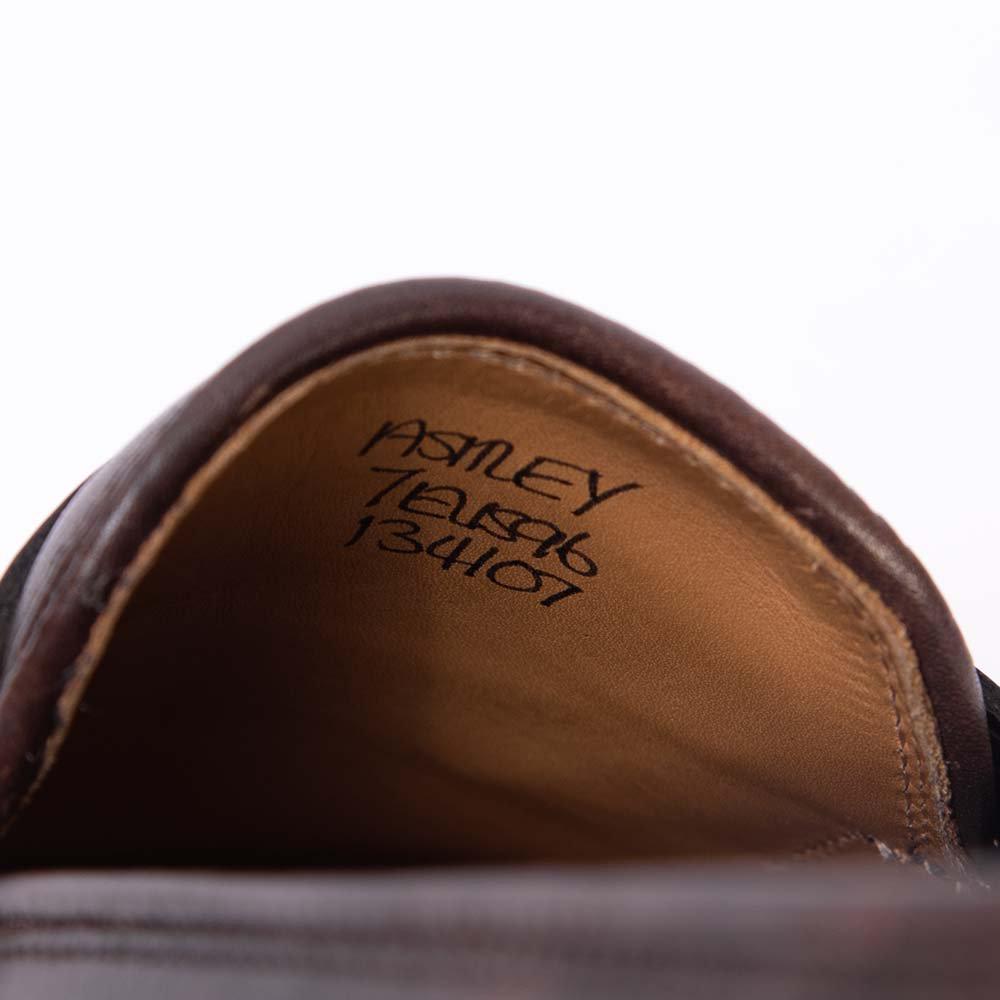 ジョンロブ ASHLEY(アシュレイ)コインローファー ダークブラウン ミュージアムカーフ スキンステッチ 黄色箱 サイズ7E