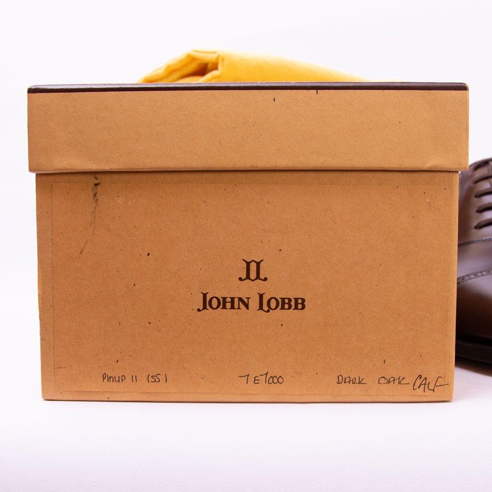 ジョンロブ ジョンロブ PHILIP�(フィリップ2)パンチドキャップトゥ ダークオーク 茶箱~黄色箱時代 サイズ7E