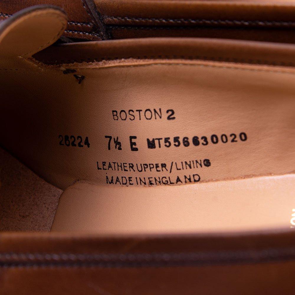クロケット&ジョーンズ BOSTON2(ボストン2)コインローファー ダークブラウンバーニッシュドカーフ サイズ7.5E