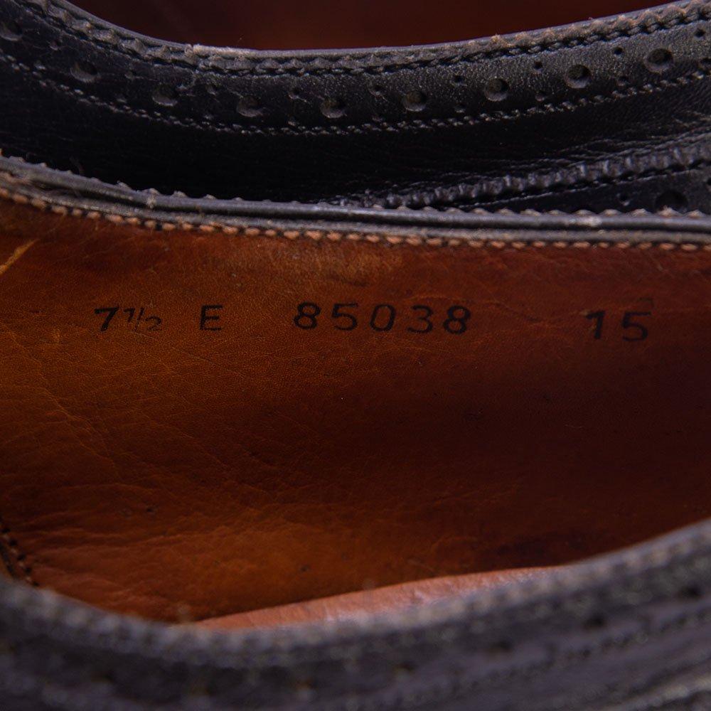 ジェイエムウエストン フルブローグ ウィングチップ ブラック 旧ロゴ サイズ7.5E