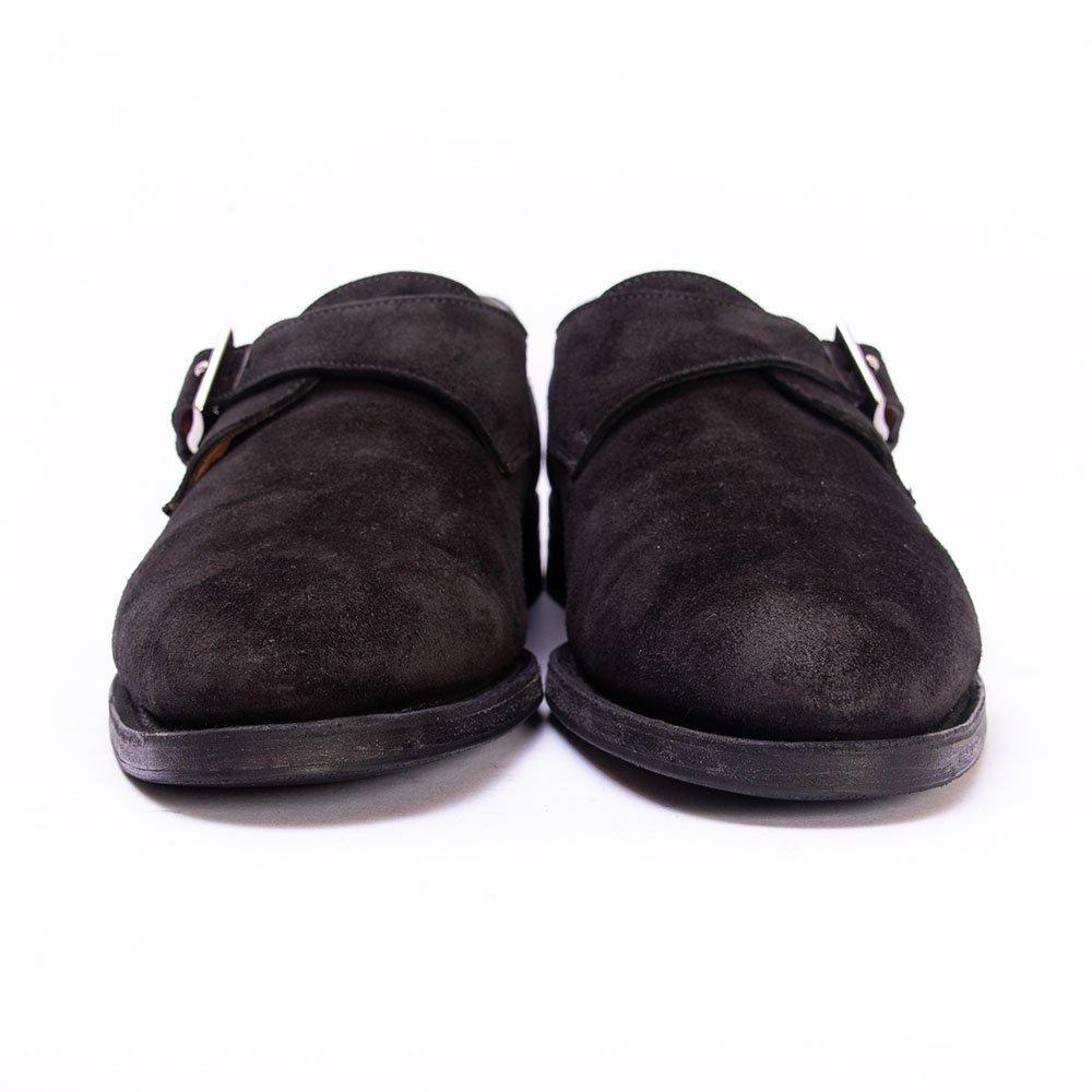 ジョンロブ ASHILL(アシール)シングルモンク ブラック スエード サイズ6E