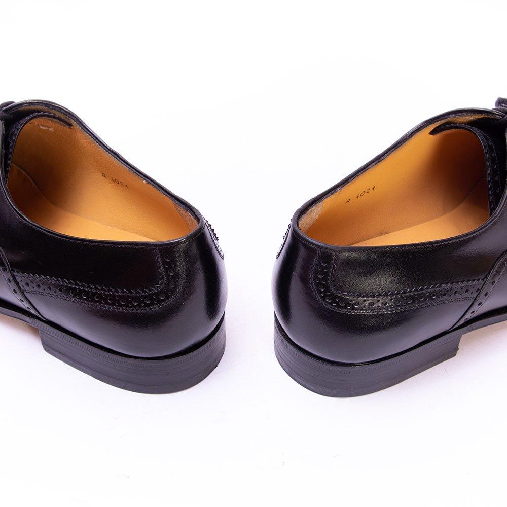 タニノクリスチー フルブローグ ウィングチップ ブラック サイズ6.5
