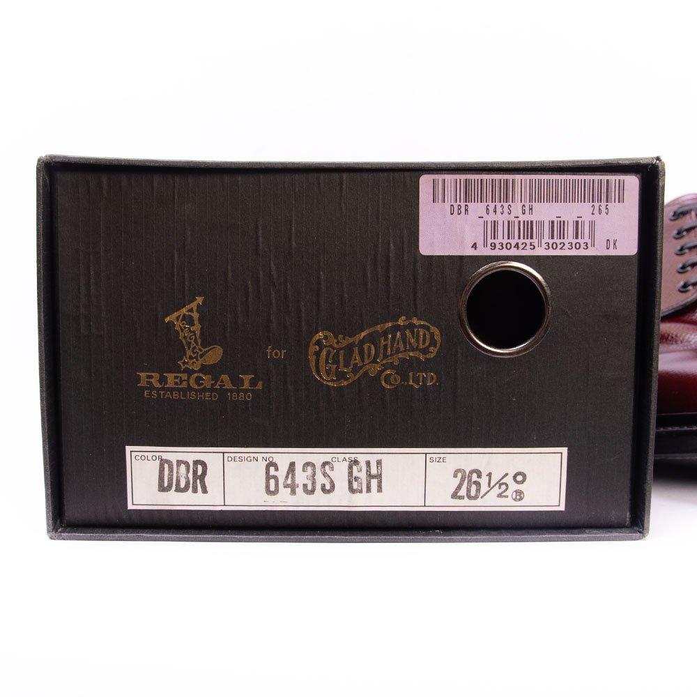 リーガル 643S プレーントゥ バーガンディ グレインレザー グラッドハンド別注 サイズ26.5D