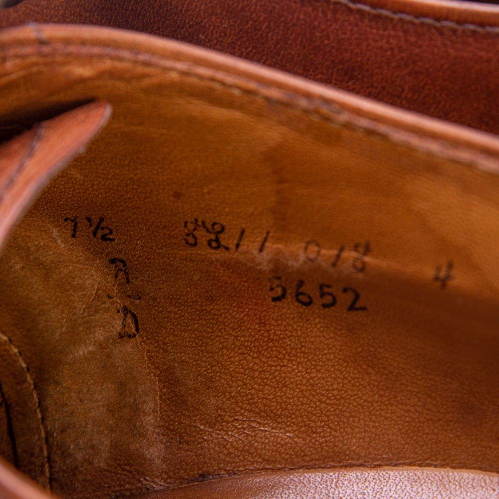 オールデン 5652 外羽根キャップトゥ ストレートチップ ブラウン モディファイドラスト BEAMS別注 サイズ7.5D