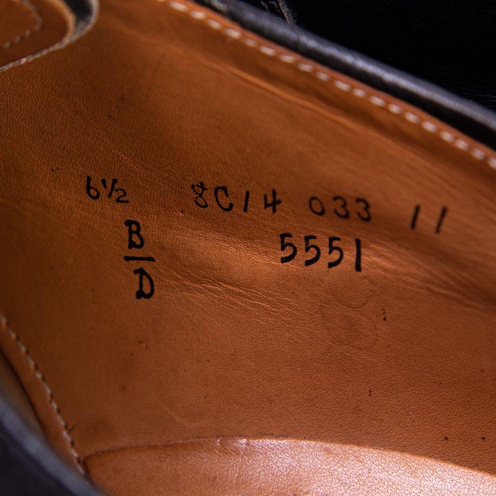 オールデン 5551 プレーントゥ サドル ブラック BEAMS別注  サイズ6.5D