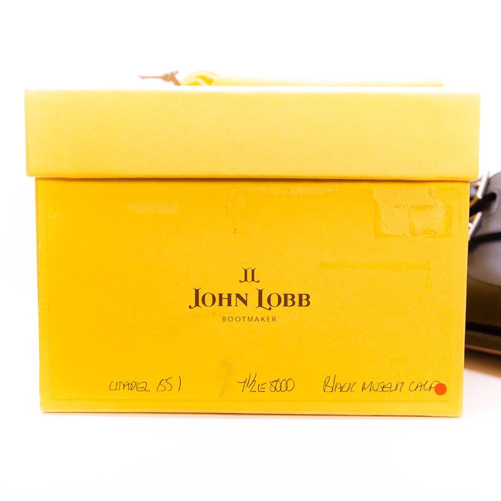 ジョンロブ CHAPEL(チャペル)ダブルモンク ブラック ミュージアムカーフ 黄色箱 サイズ7.5E