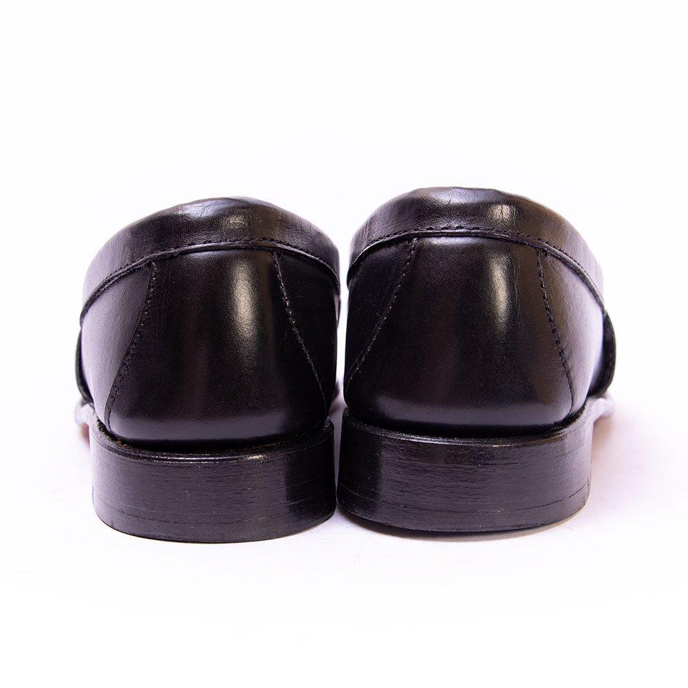 ランコート コインローファー サドル ブラック レディース サイズ5.5D