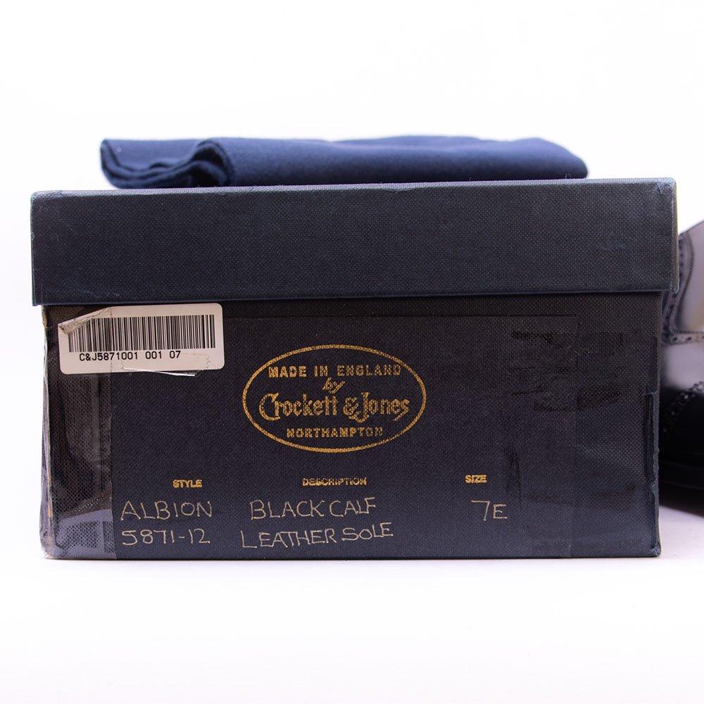 クロケット&ジョーンズ ALBION(アルビオン)セミブローグ ブラック ハンドグレード サイズ7E