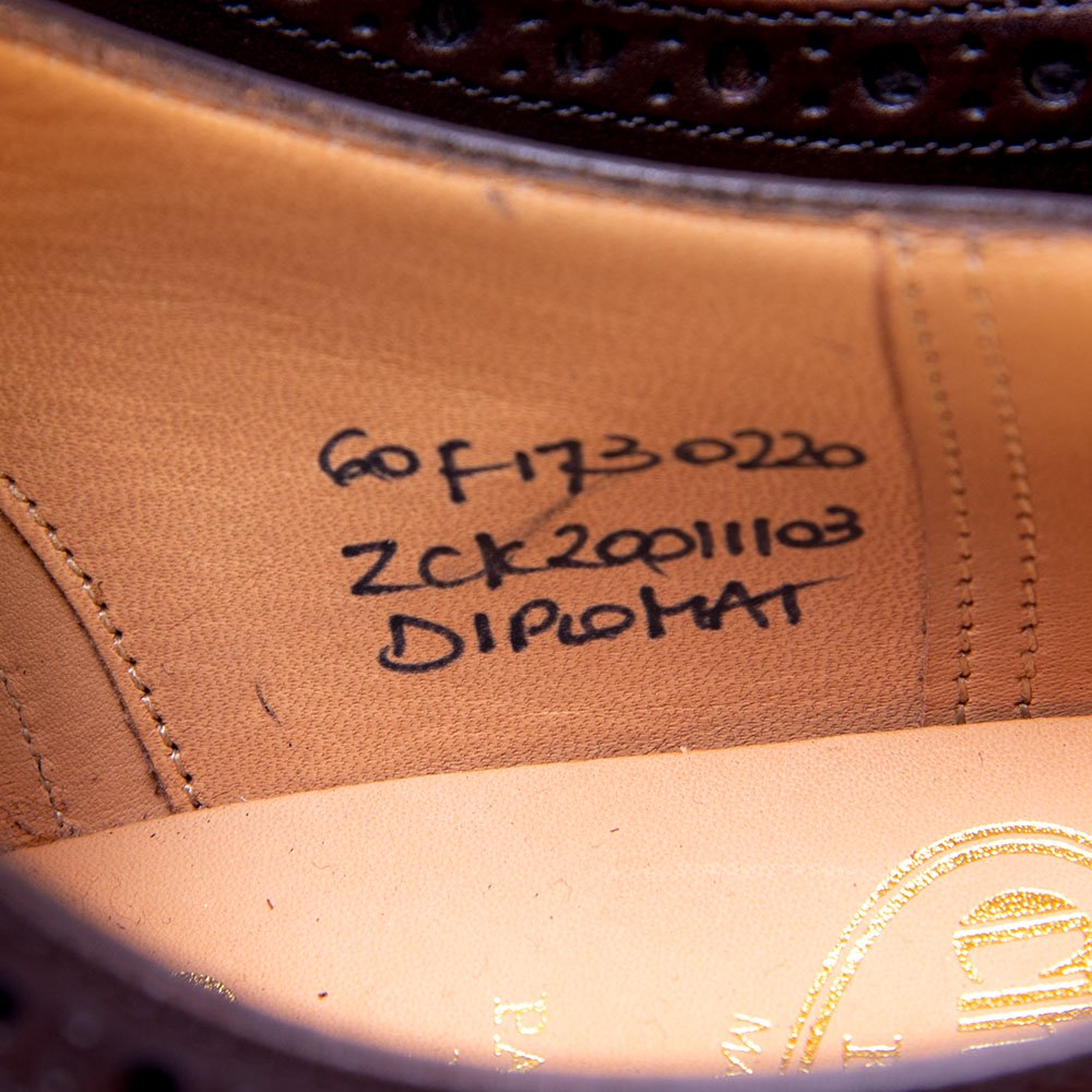 チャーチ DIPLOMAT(ディプロマット) セミブローグ エボニー ダークブラウン サイズ60F