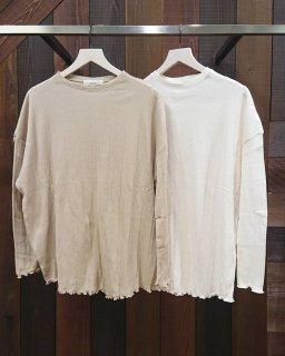 ■TODAYFUL-Randomrib Over Long Tshirts-ECRU