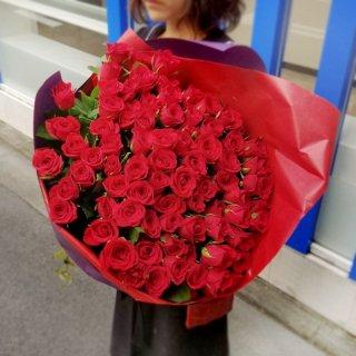 赤バラの花束 100本・108本・111本 ご予算とご希望に応じてプロポーズ用にお作りいたします
