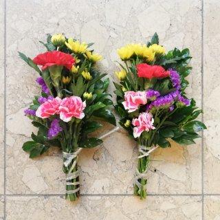 【店頭販売のみ】仏花一対 飯塚生花 季節の花でお作りします