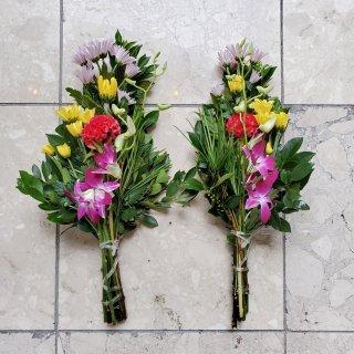 【店頭販売のみ】墓花一対 飯塚生花 季節の花でお作りします