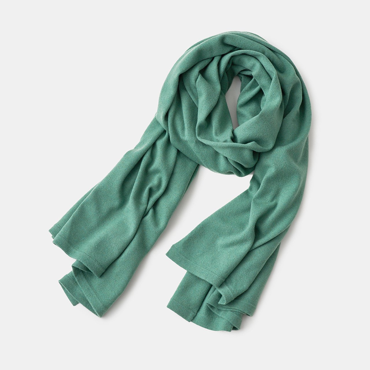 CASHMERE STOLE<BR>APPLE GREEN