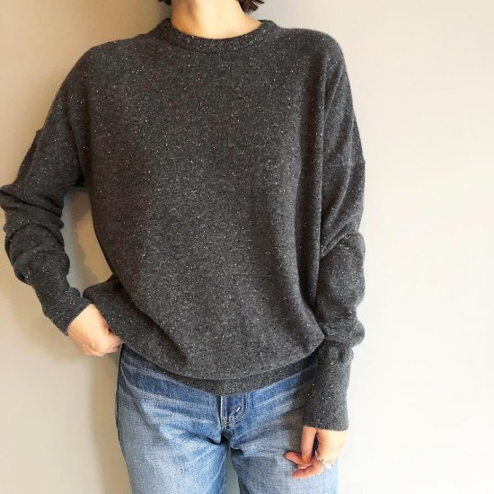 CASHMERE Basic Tops<BR>STARDUST GRAY