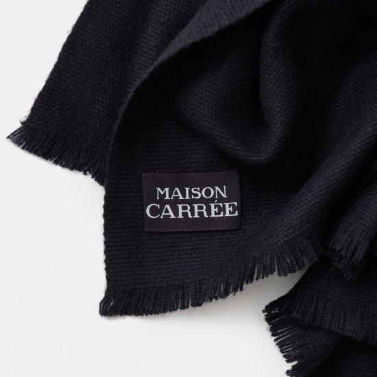 CASHMERE Tisser STOLE<BR>BLACK