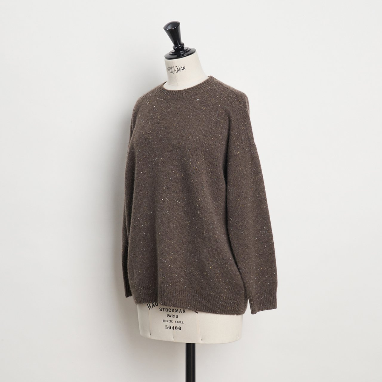 CASHMERE CABLE KNIT<BR>STARDUST BROWN