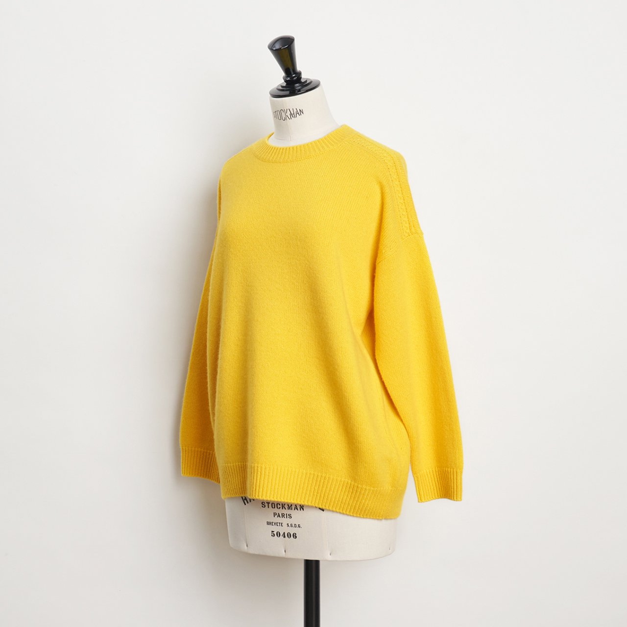 CASHMERE CABLE KNIT<BR>YELLOW