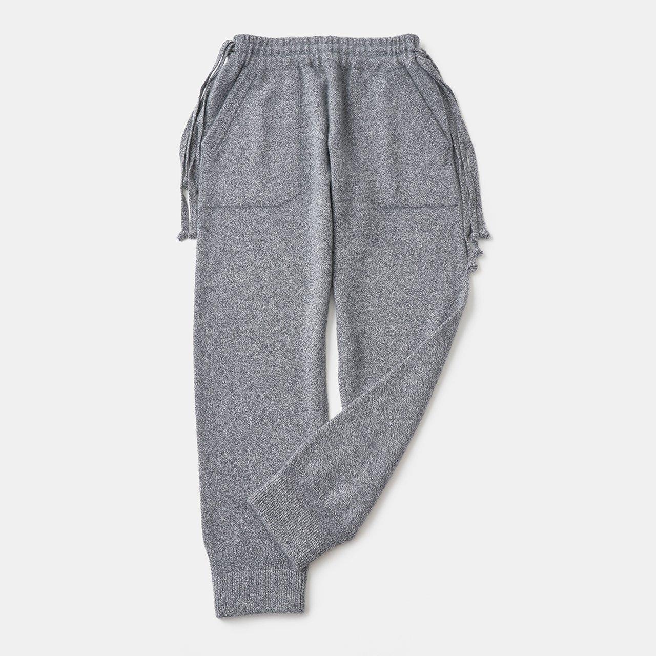 CASHMERE Middle gauge Pants<BR>GRAY MELANGE