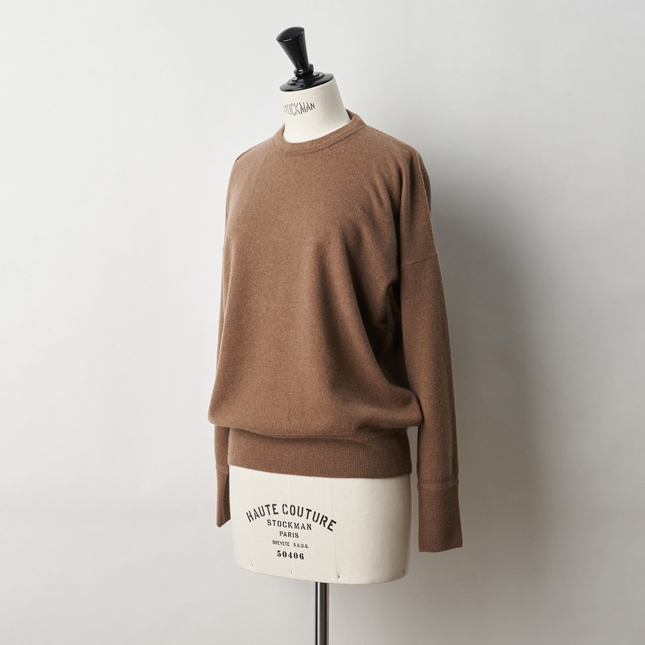 CASHMERE BASIC TOPS<BR>MOCHA