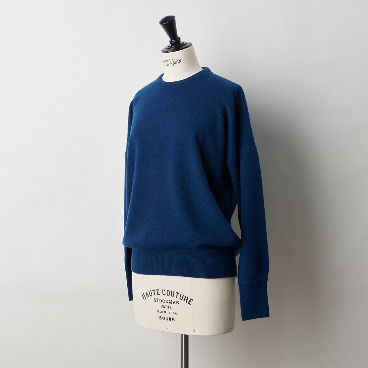 CASHMERE BASIC TOPS<BR>BLUE