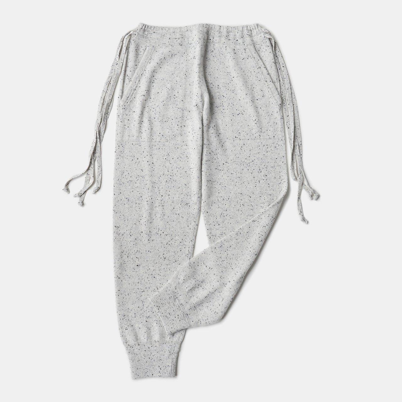 CASHMERE STARDUST PANTS<BR>WHITE