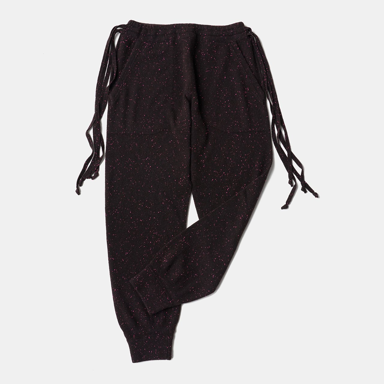 CASHMERE STARDUST PANTS<BR>BURGUNDY