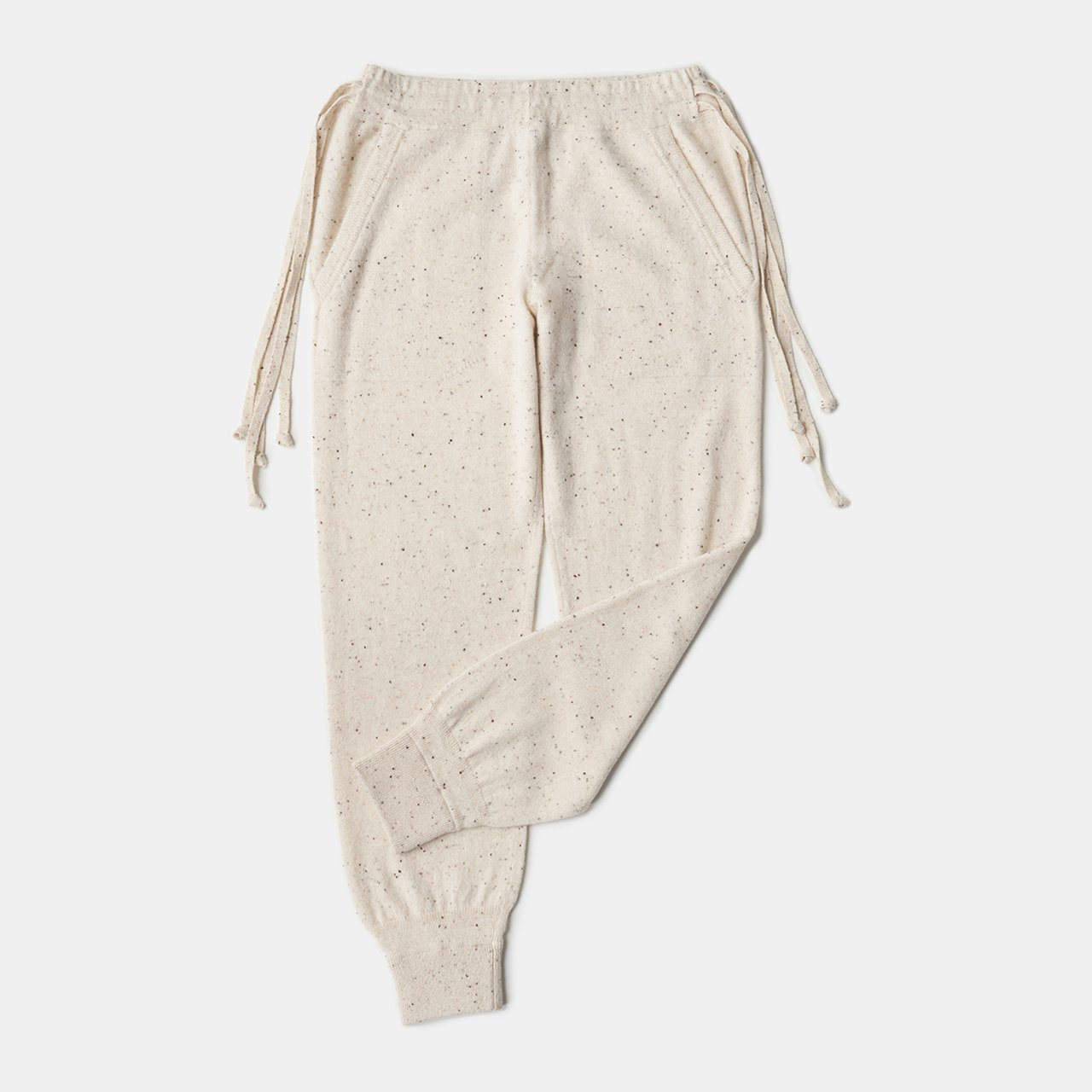 CASHMERE STARDUST PANTS<BR>COOKIE&CREAM