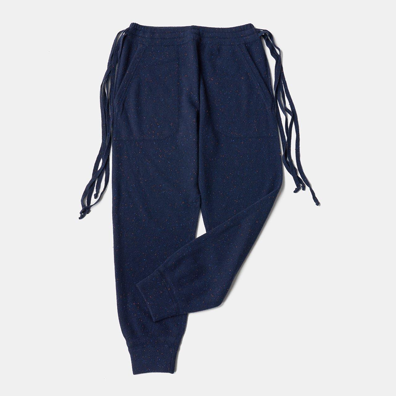 CASHMERE STARDUST PANTS<BR>BLUE