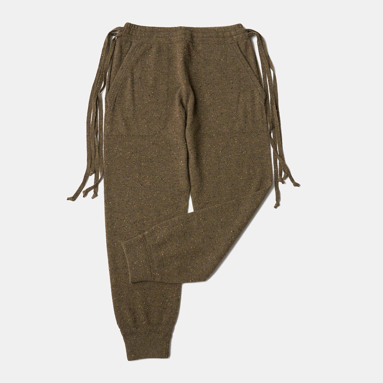 CASHMERE STARDUST PANTS<BR>KHAKI