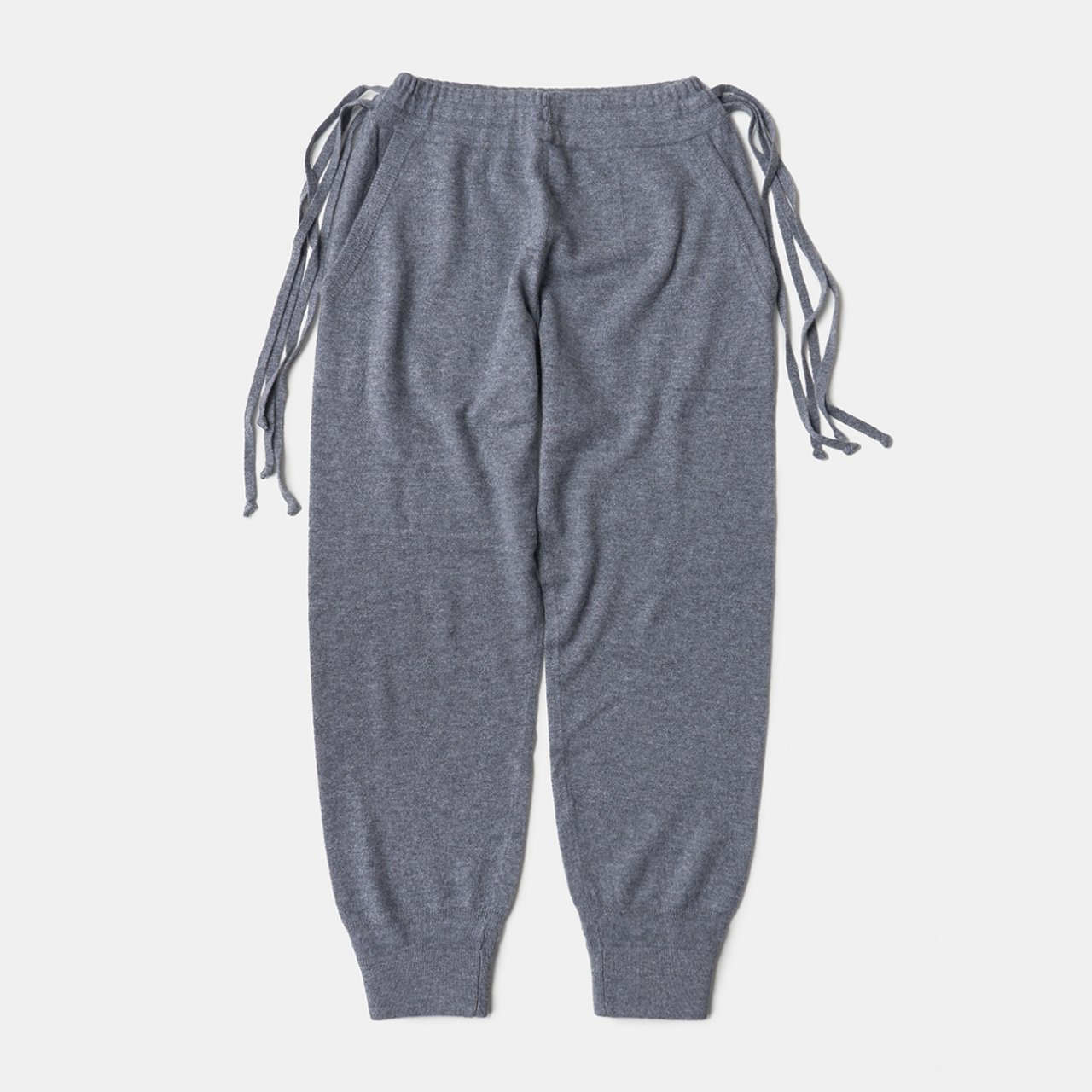CASHMERE  BASIC BoyFriend PANTS<BR>GREY