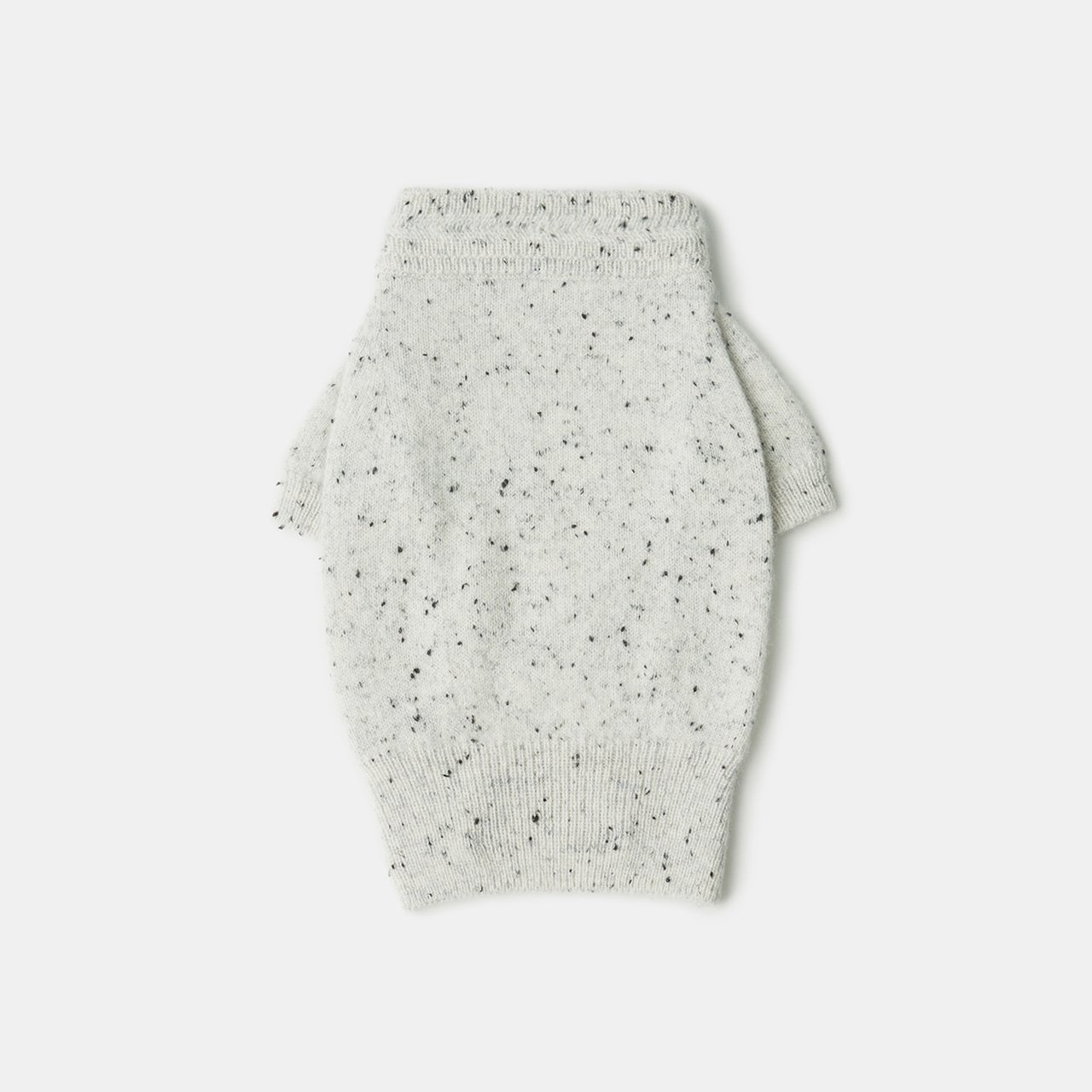 CASHMERE DOG STARDUST TOPS<BR>WHITE