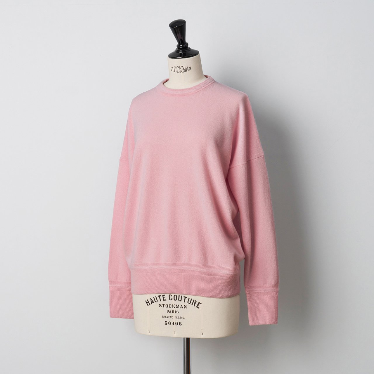 CASHMERE BASIC TOPS<BR>PALE PINK