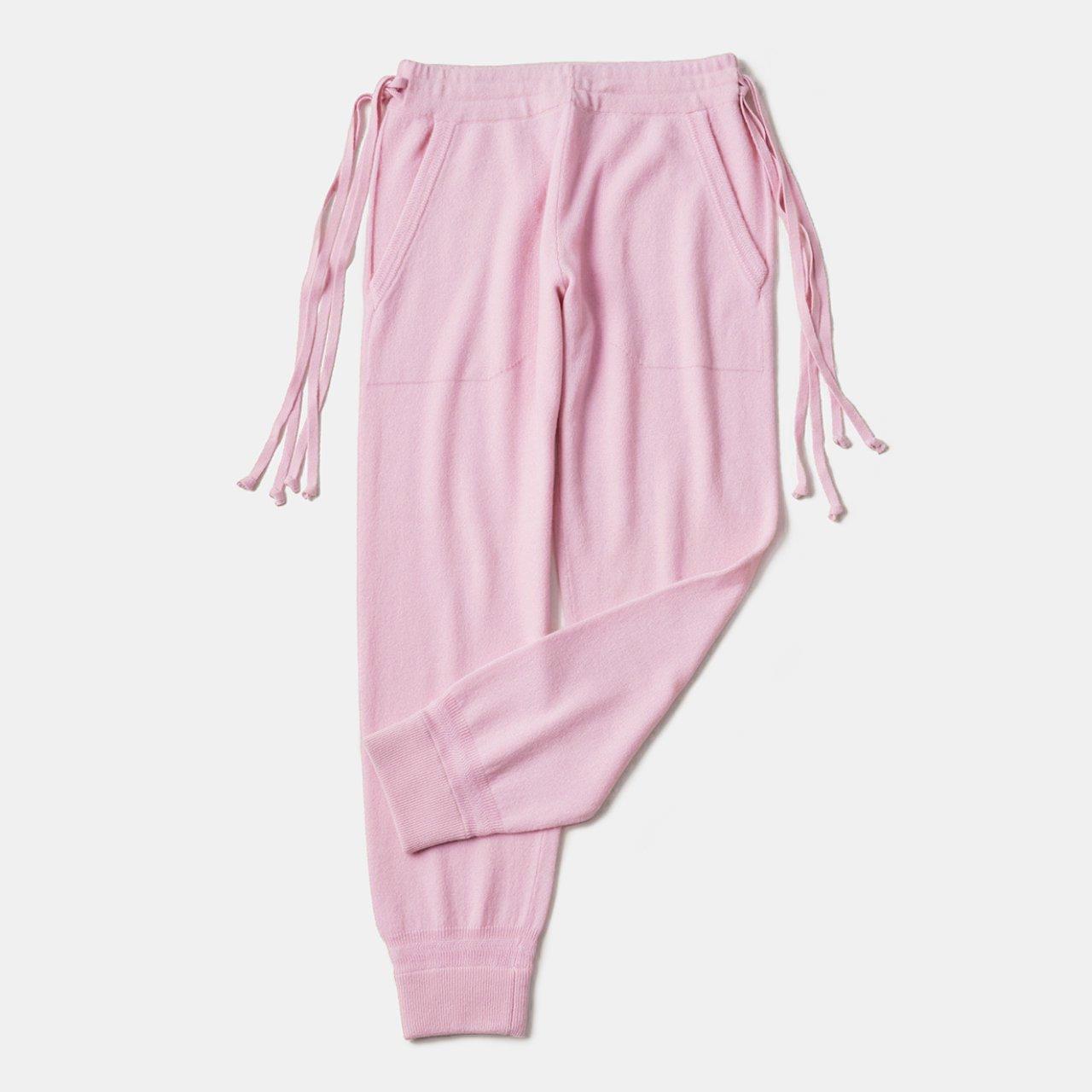 CASHMERE BASIC PANTS<BR>PALE PINK