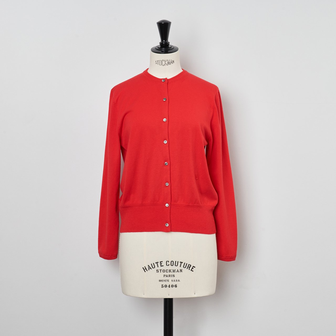 Basic cardigan<BR>RED