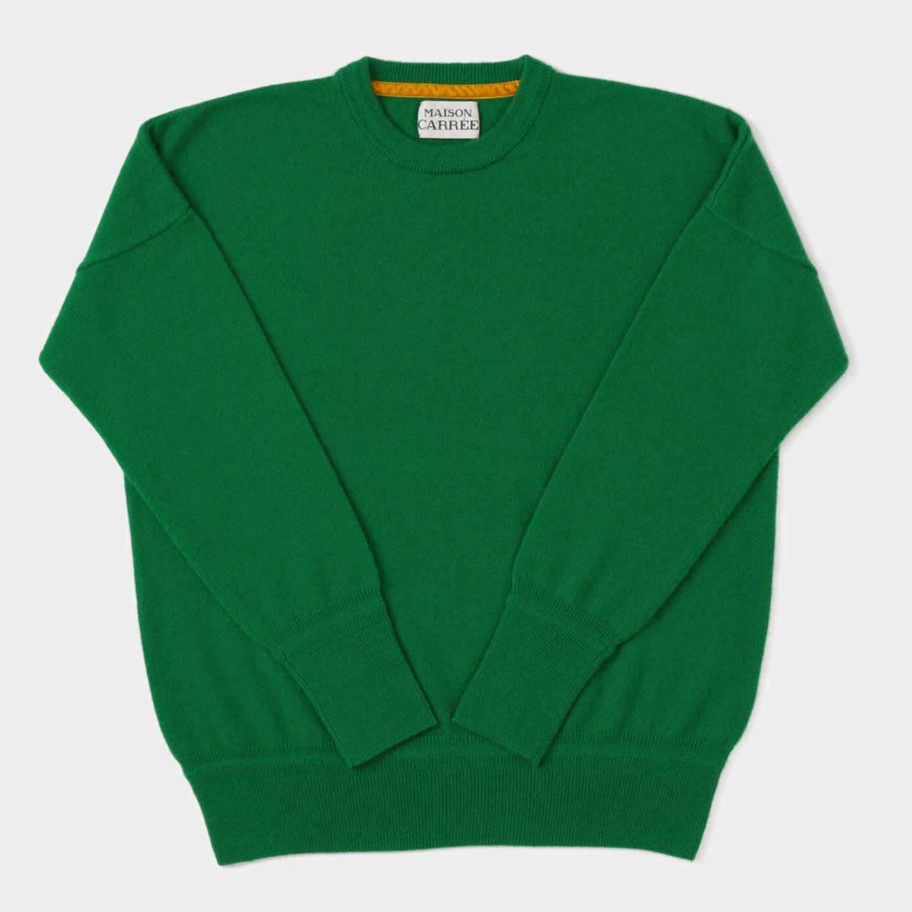 CASHMERE BASIC TOPS<BR>GREEN