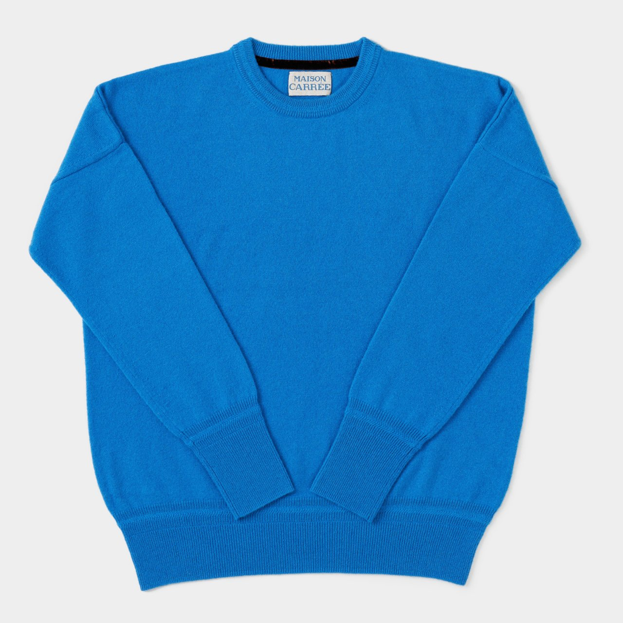CASHMERE BASIC TOPS<BR>TURQUOISE