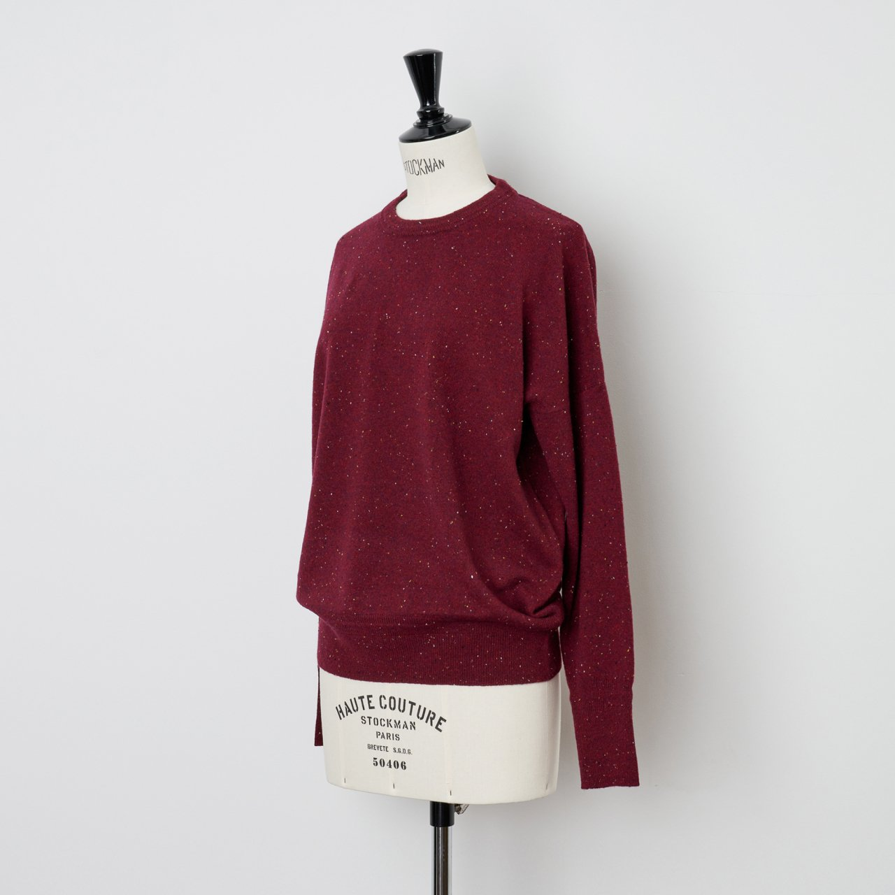 CASHMERE STARDUST TOPS<BR>RED