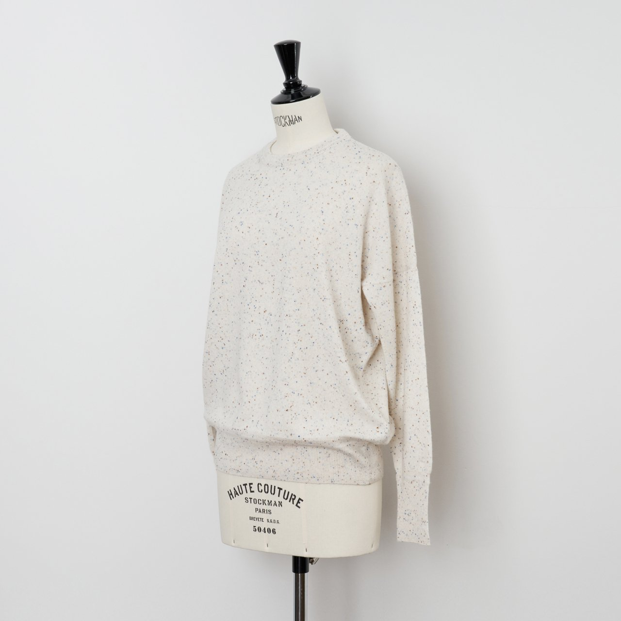 CASHMERE STARDUST TOPS<BR>IVORY