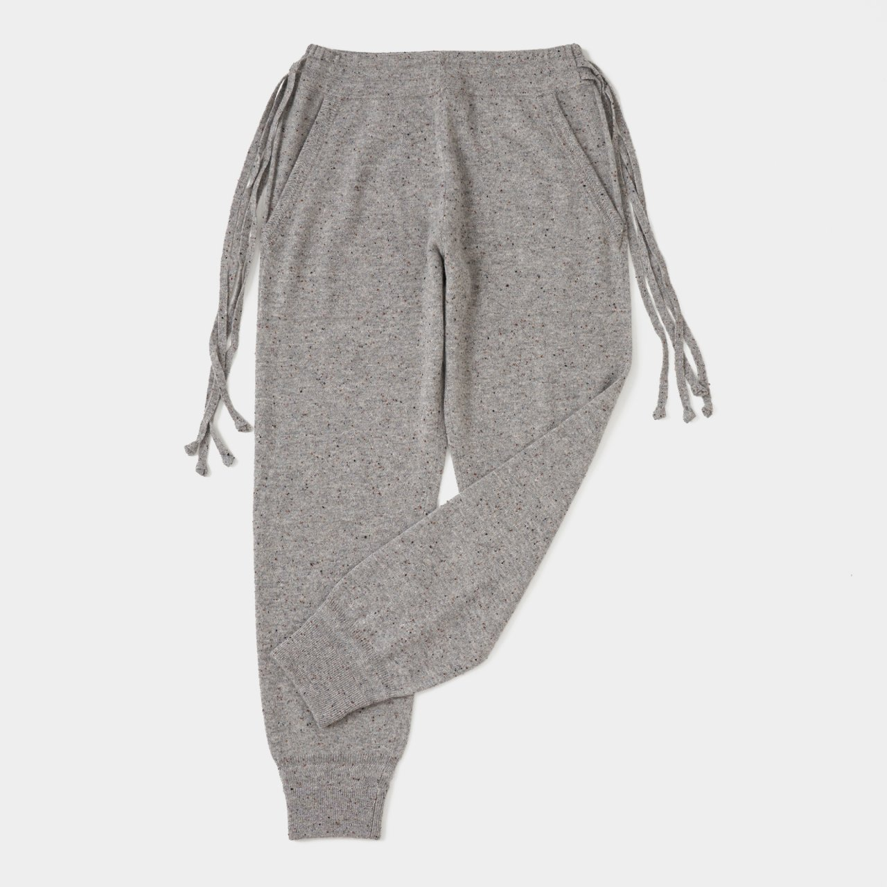 CASHMERE STARDUST PANTS<BR>GRAY