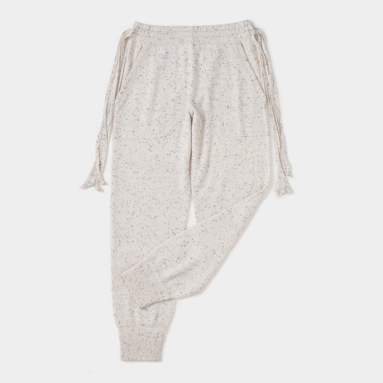 CASHMERE STARDUST PANTS<BR>IVORY