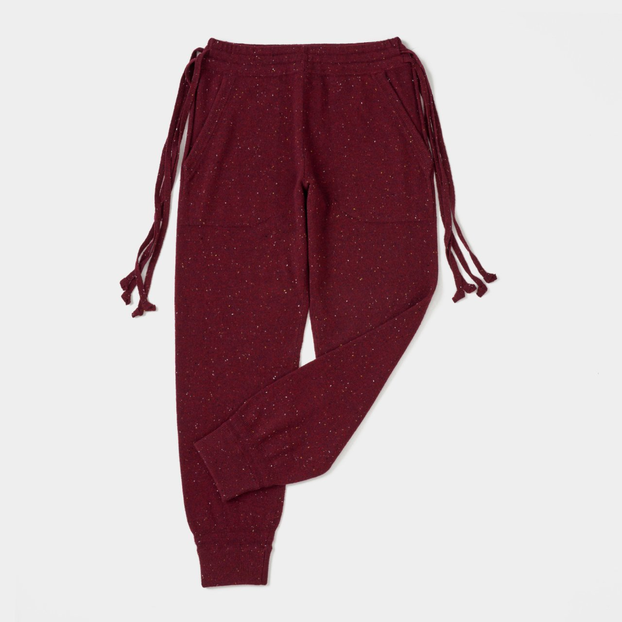 CASHMERE STARDUST PANTS<BR>RED
