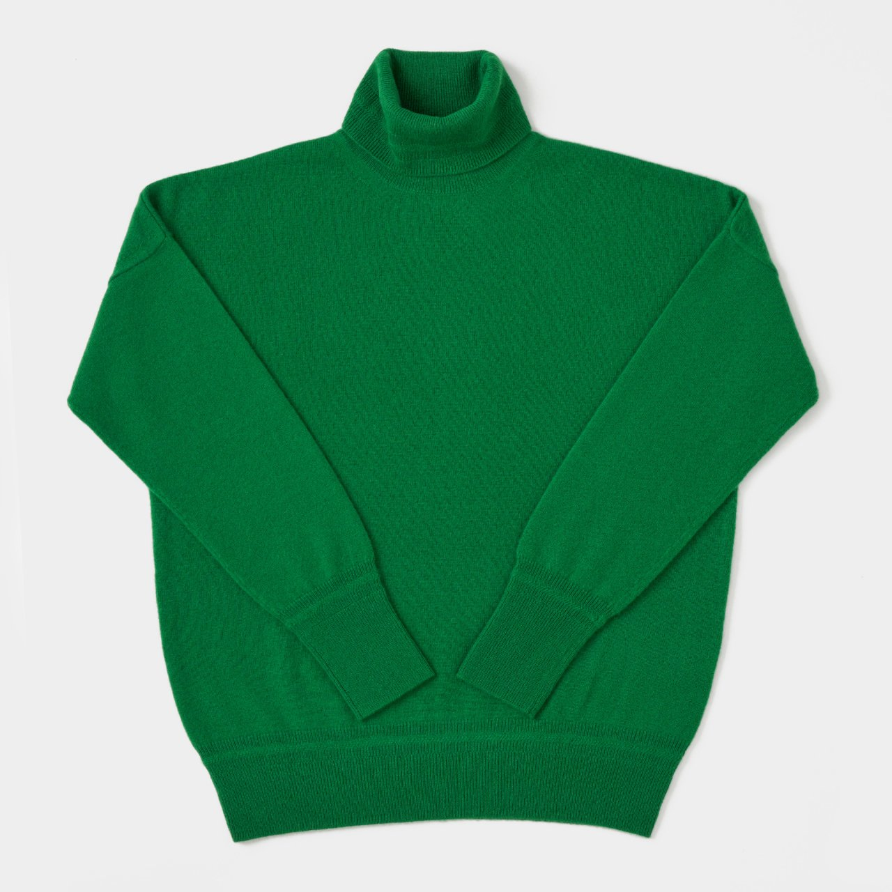 CASHMERE BASIC TURTLE<BR>GREEN